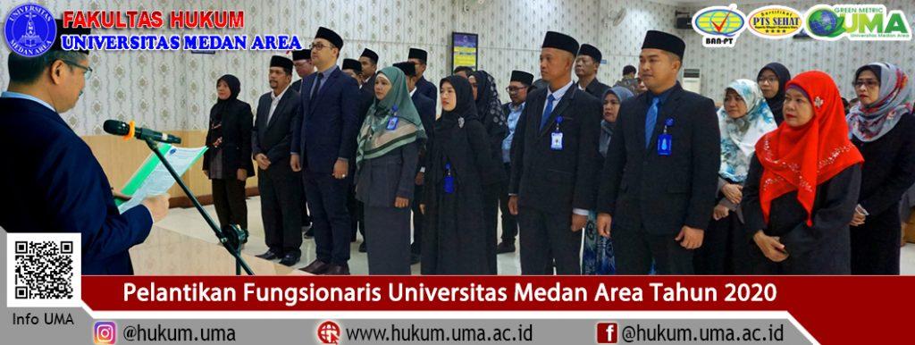 Pelantikan Fungsionaris Universitas Medan Area Tahun 2020
